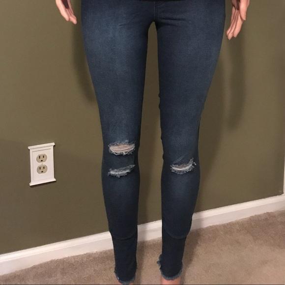 fa1855650b397 HUE Pants   Nwt Ripped Knee Denim Leggings   Poshmark